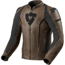 Photo of Revit Glide Vintage Motorrad Lederjacke Braun 48 Revit