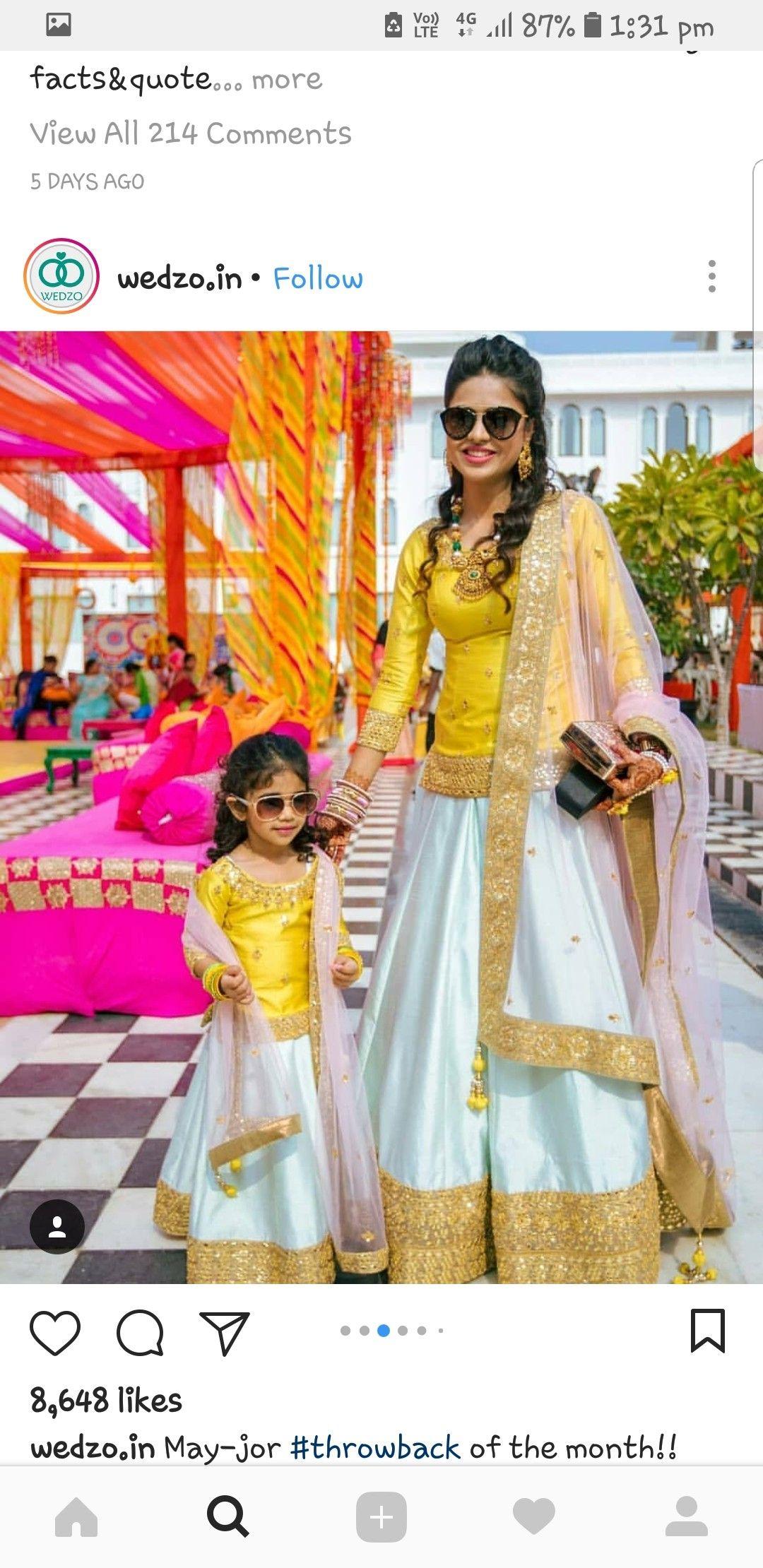c6907a1852 Long kurti lehenga- mother daughter | Punjabi Fashion in 2019 ...