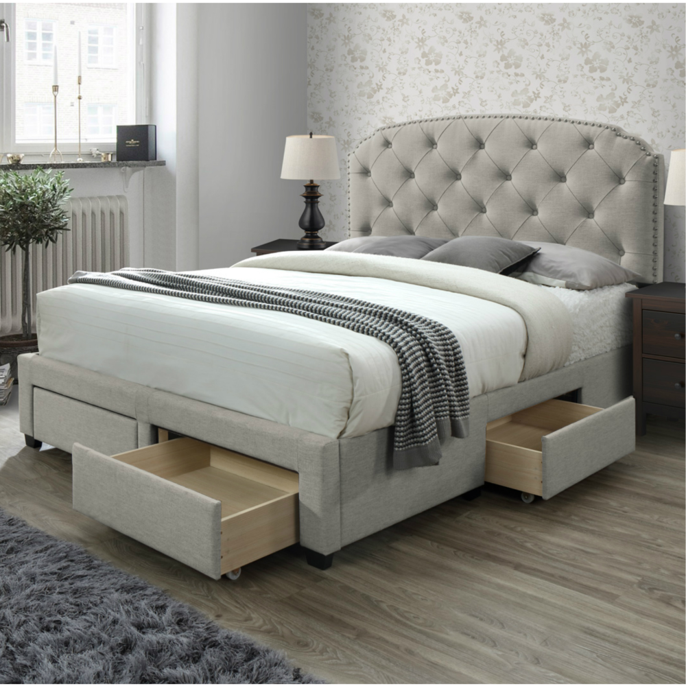 Home In 2020 Bed Frame With Storage Queen Size Storage Bed