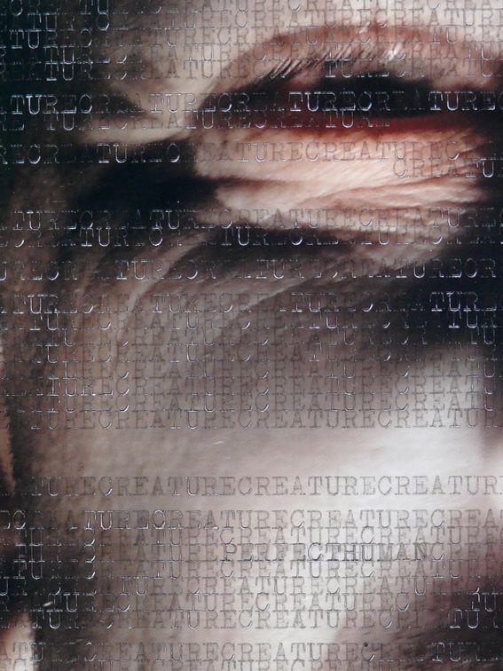 WORDSCREATUREWORDS 5 (detail) - 2014 (typewriter ink on creature picture portrait) - twitter.com/ragnoxxx #contemporaryart #artecontemporanea #conceptualart #visualart #arte #artecontemporaneo #artcontemporain #zeitgenössischekunst #photografy #kunst #artcollectors #art #contemporaryphotografy #artgallery #cosegiaviste #installation #artexhibition