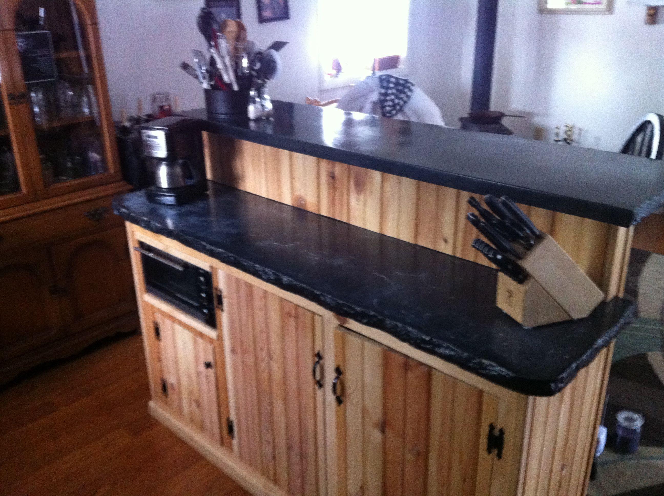 Bi level concrete kitchen island Possible island style for my