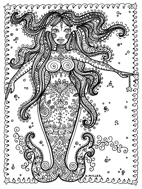 Printable Coloring FANTASY Pages 5 to Color by ChubbyMermaid | Adult ...