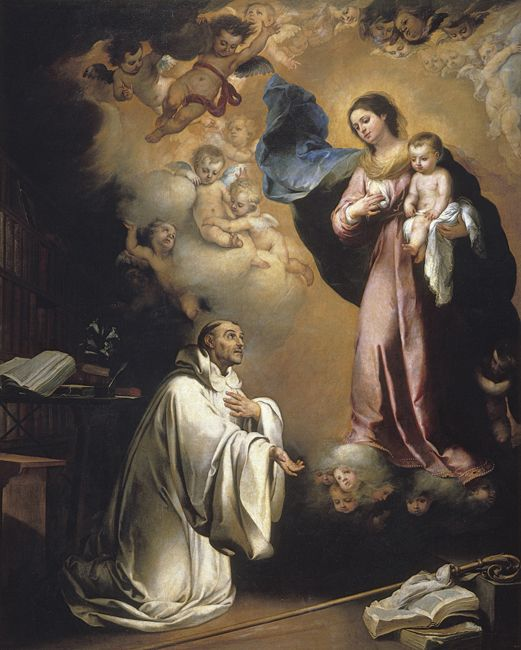 Murillo Bartolome Esteban La Aparicion De La Virgen A San