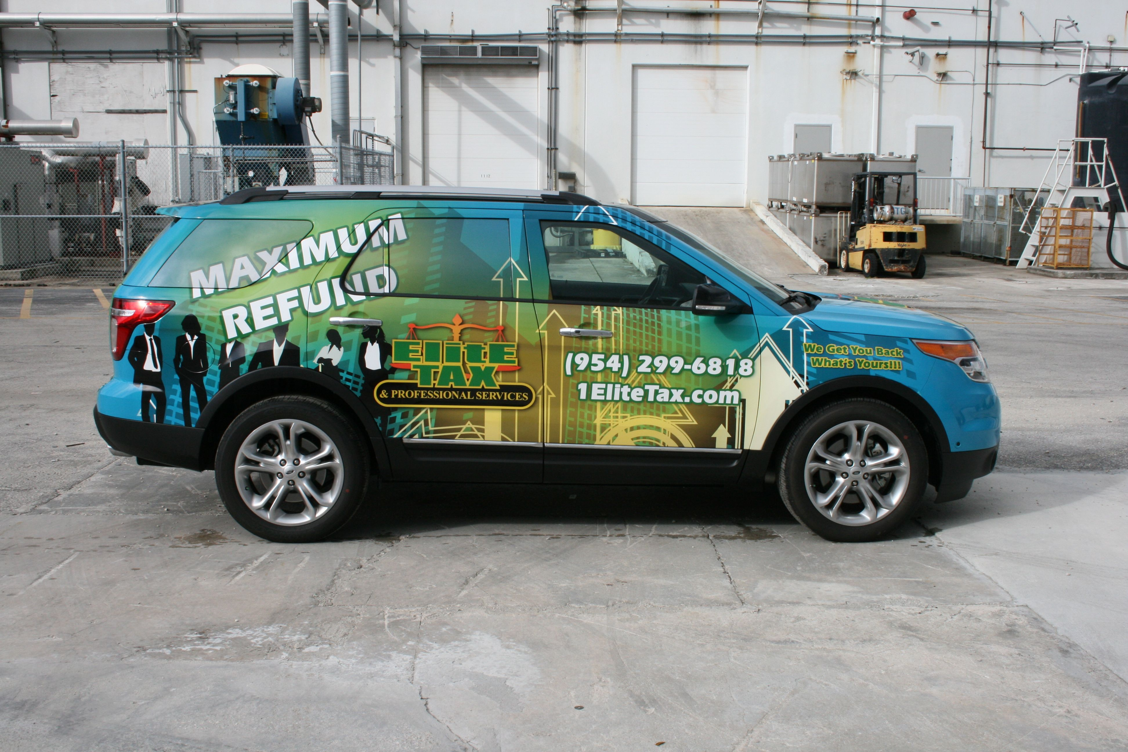Fort Lauderdale 3m Vinyl Car Wrap On Ford Explorer Car Wrap