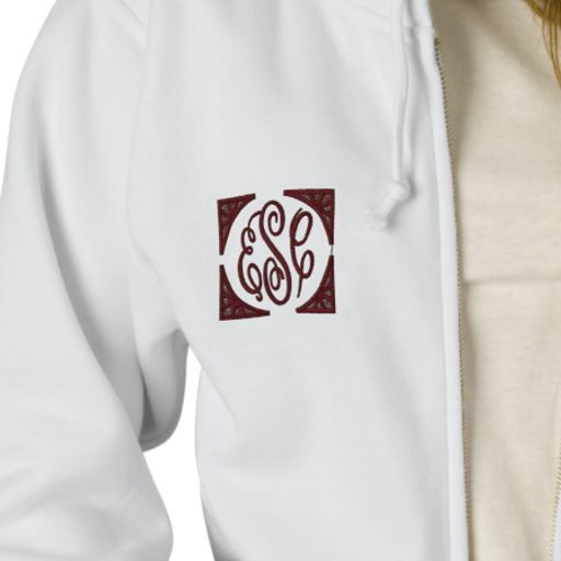 Embroidered Initials Hoodies