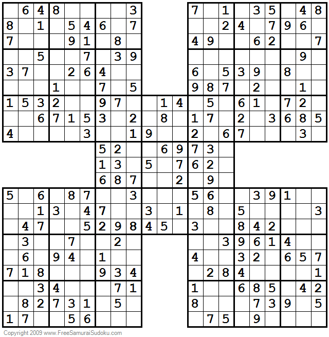 photograph about Printable Samuri Sudoku named Through Photograph Congress Samurai Sudoku
