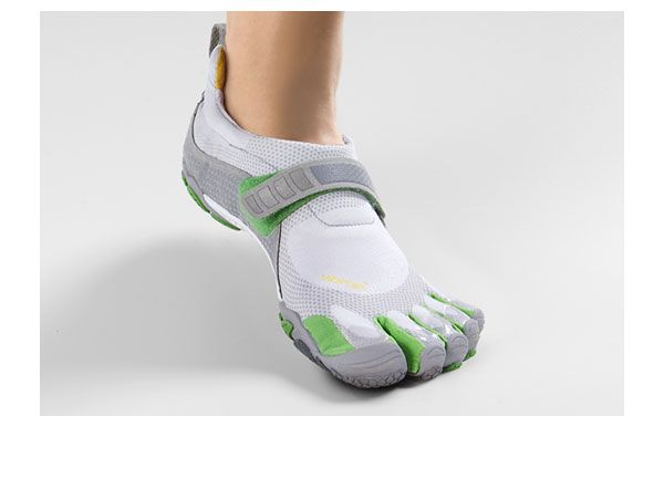 Vibram five toed running shoes