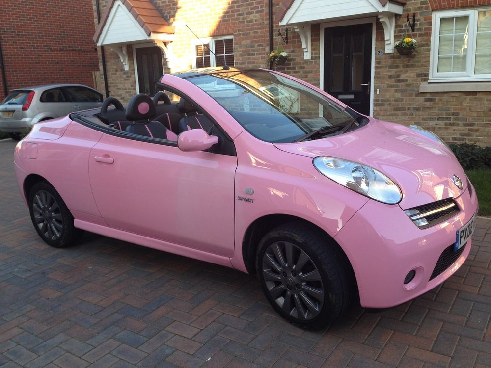 pink nissan micra 1 6 sport 2dr 1 of only 250 made worldwide cabriolet pink pinterest. Black Bedroom Furniture Sets. Home Design Ideas