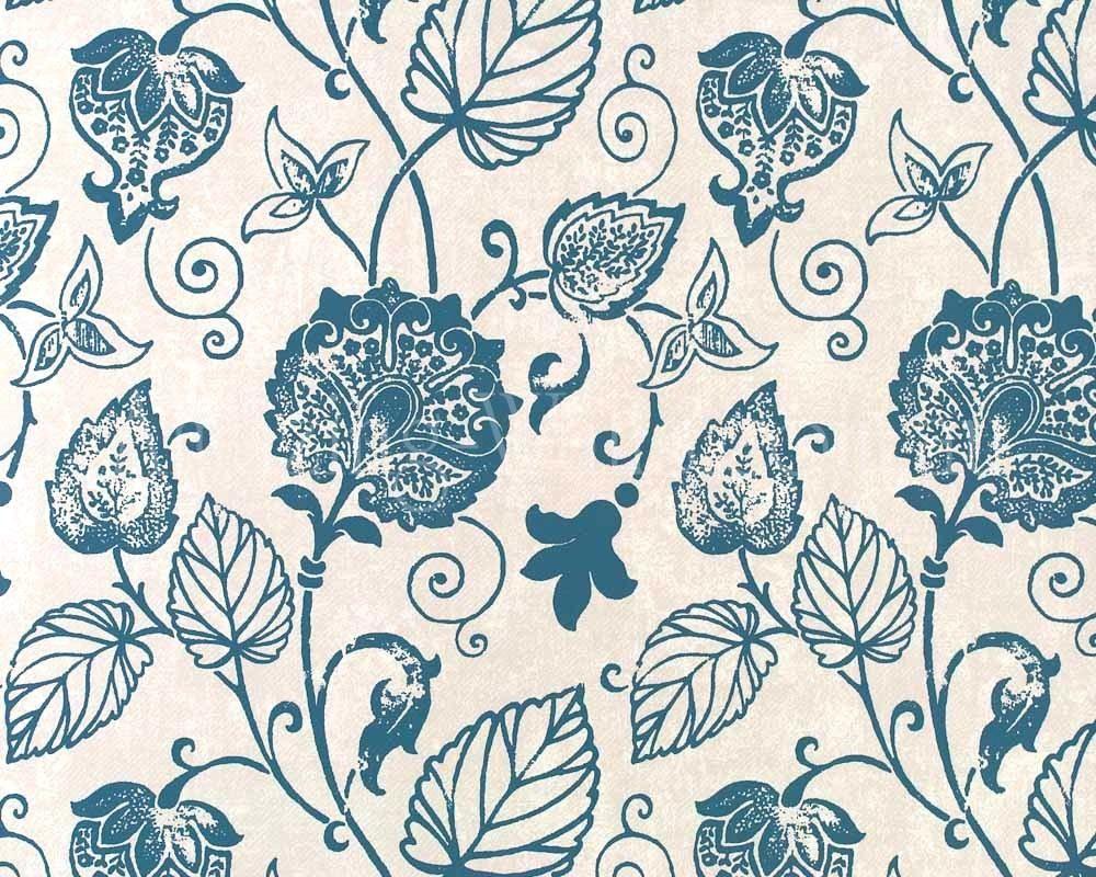 Wallpaper Grey Flowers And Birds