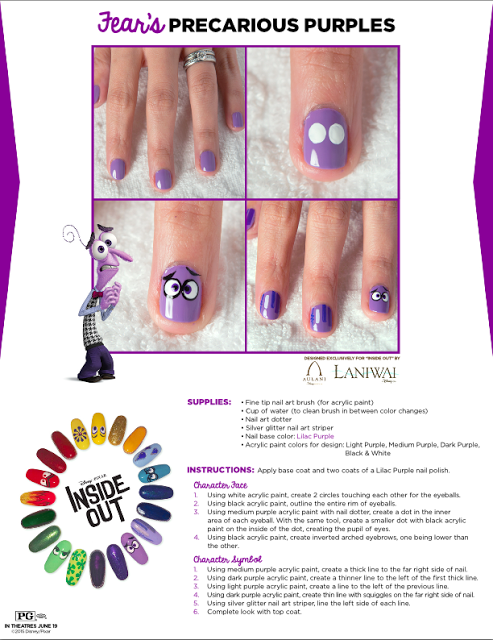 Inside Out Party Ideas Inside Out Free Printable Activity Sheets Inside Out Party Food Ideas Recipes And Nail Art Disney Nail Art Tutorial Trendy Nail Art