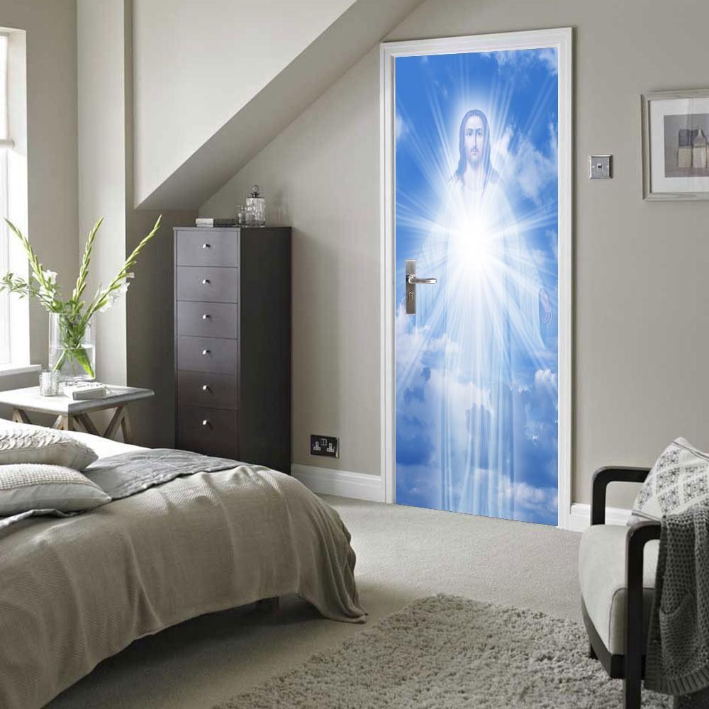 D wall u door art the light of jesus cm x cm bedroom
