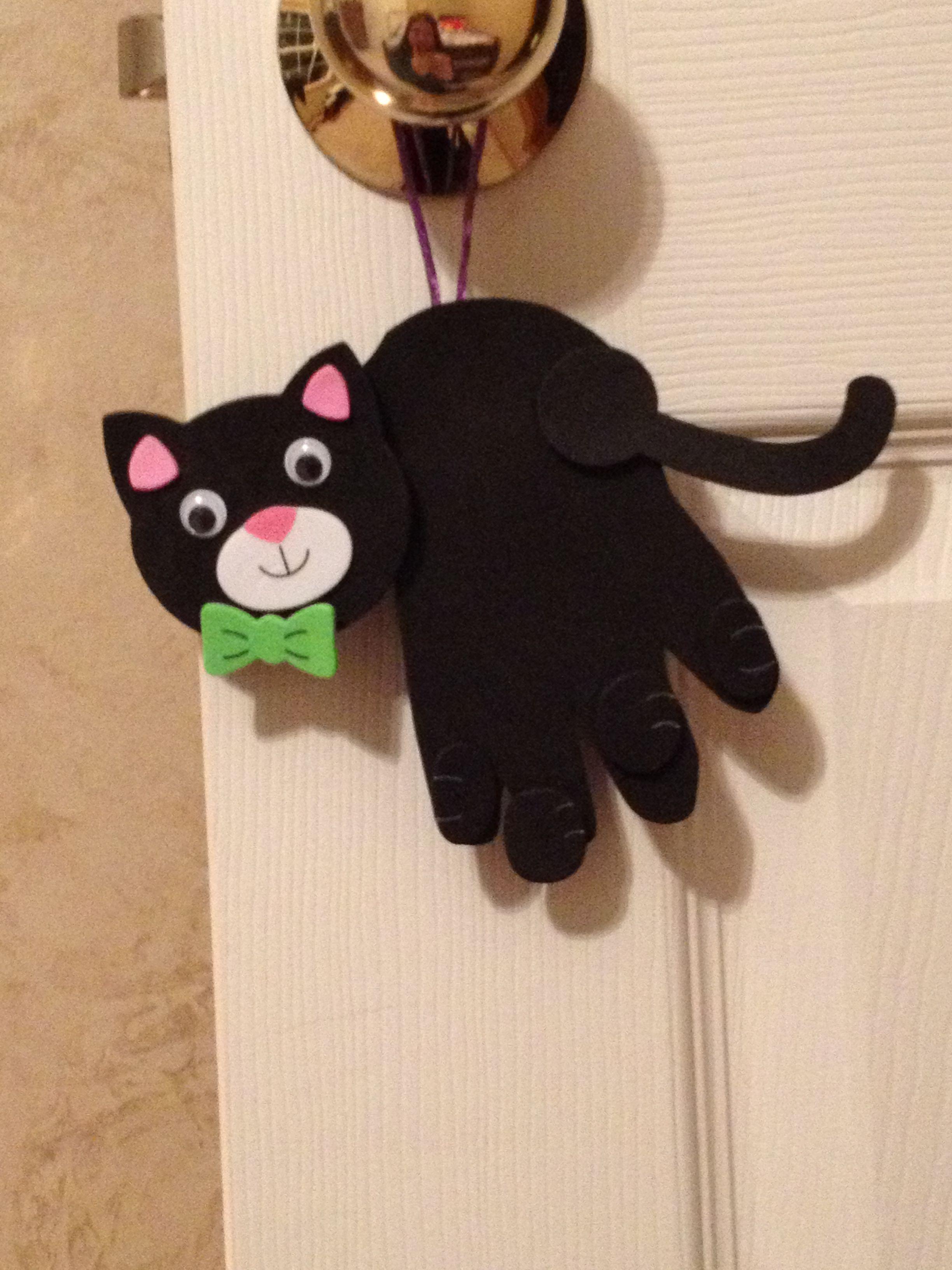Cute cat Halloween craft | Preschool files | Pinterest