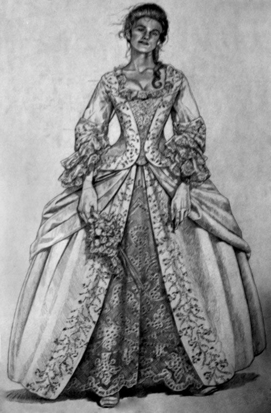Pirates of the Caribbean wedding gown concept art. | Movie Magic By ...