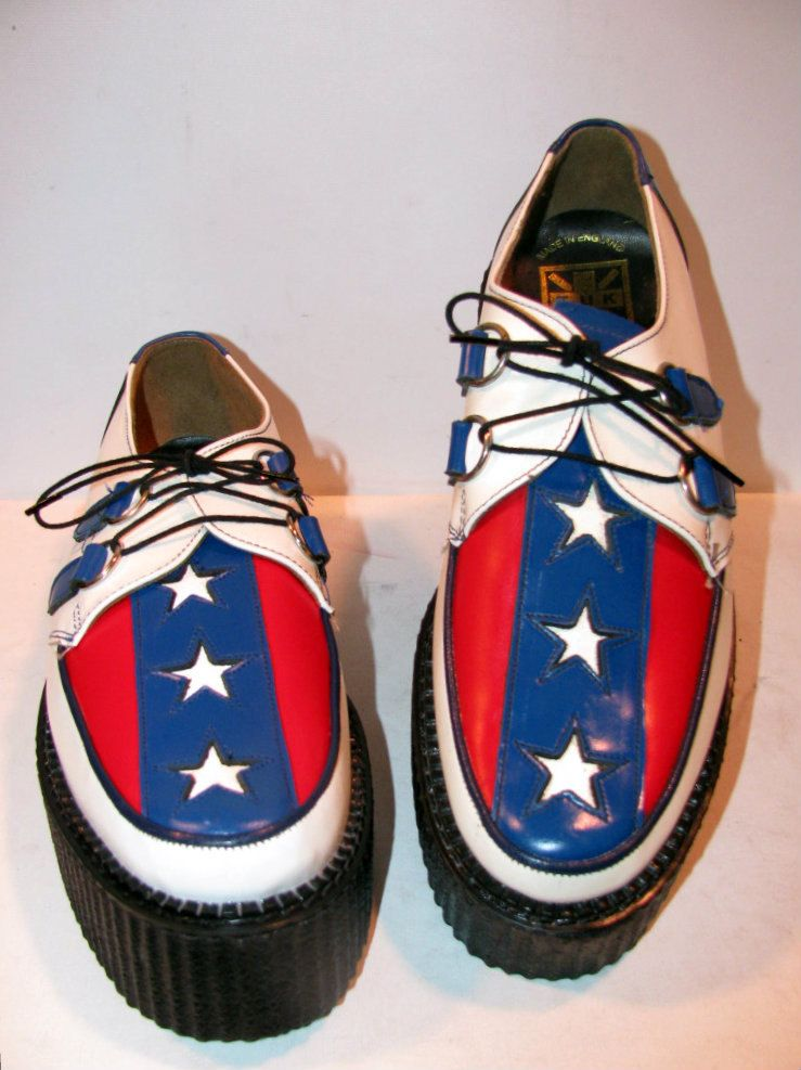 603940bf73f Vintage Men s Tribute to Evel Knievel Mondo Creeper Shoes from England Men s  U.S size 8