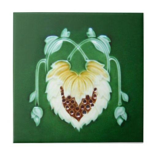 AN056 Art Nouveau Reproduction Antique Tile