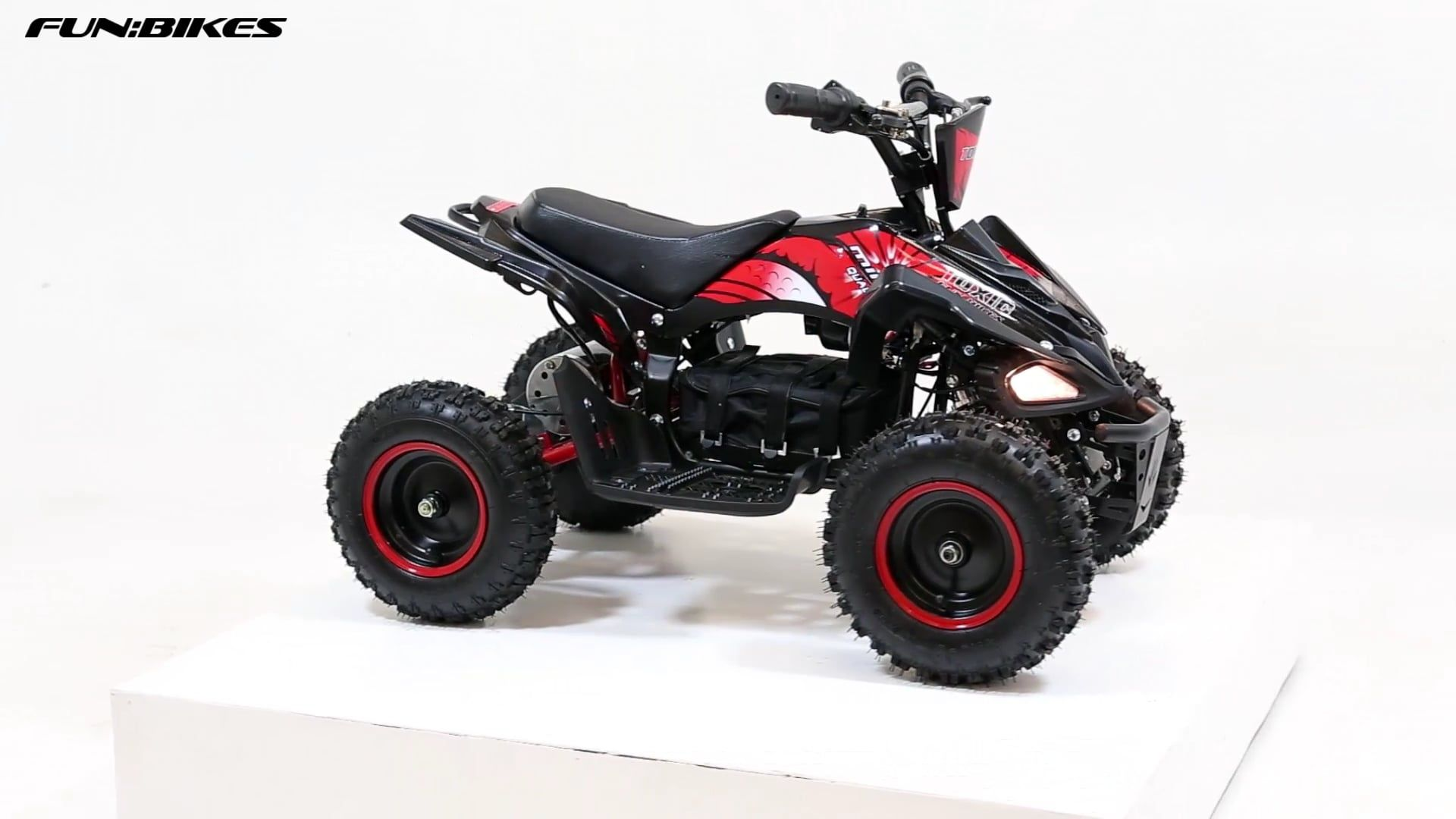 Funbikes Toxic 800w Black Red Kids Electric Mini Quad Bike With
