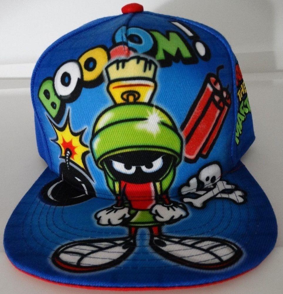 89ffd006254 Looney Tunes Marvin The Martian Sublimated Snap Back Hat   WarnerBrosInteractiveEntertainment  BaseballCap