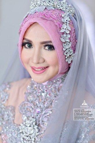 Muslim Wedding Hijab Style Dresses Foto Pengantin Muslimah Pengantin Pengantin Berhijab Gaya Pengantin