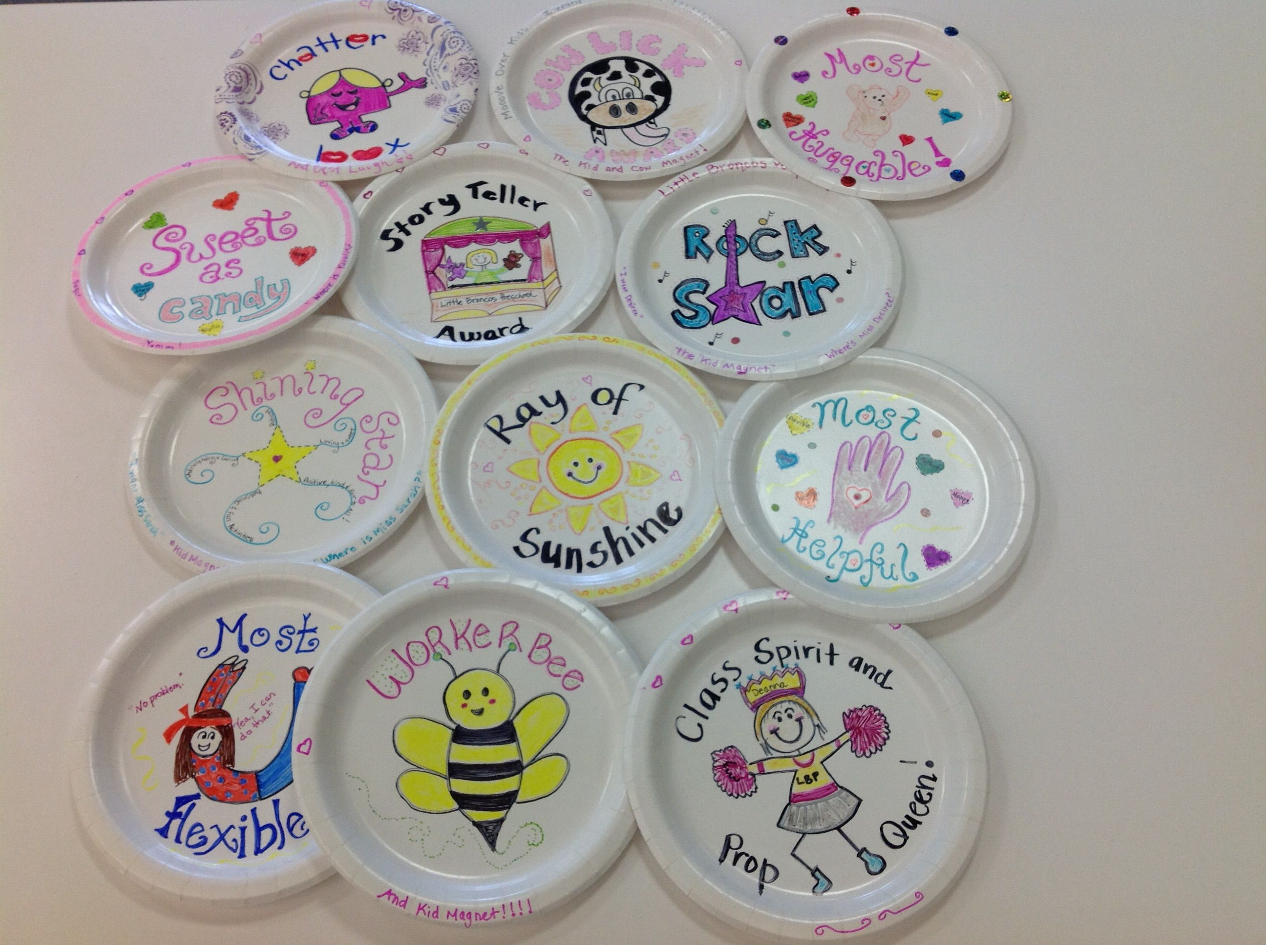 Paper Plate Award Inspiration Paper Plate Awards Paper Plates Award Ideas Dance team banquet award ideas