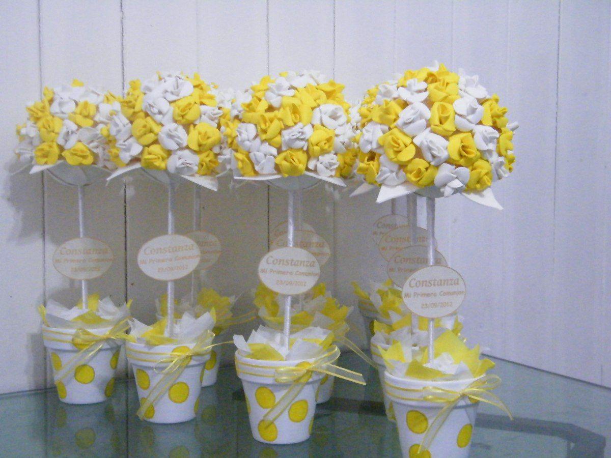 Topiarios flores goma eva souvenirs centros de mesa for Decoracion infantil goma eva