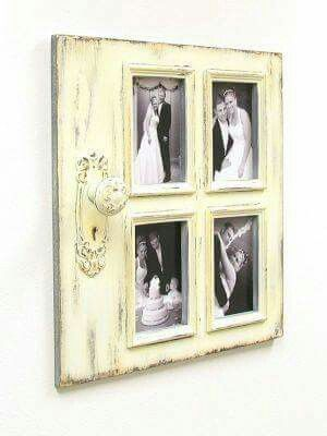 Collage frame made from door piece | Living Room | Pinterest ...