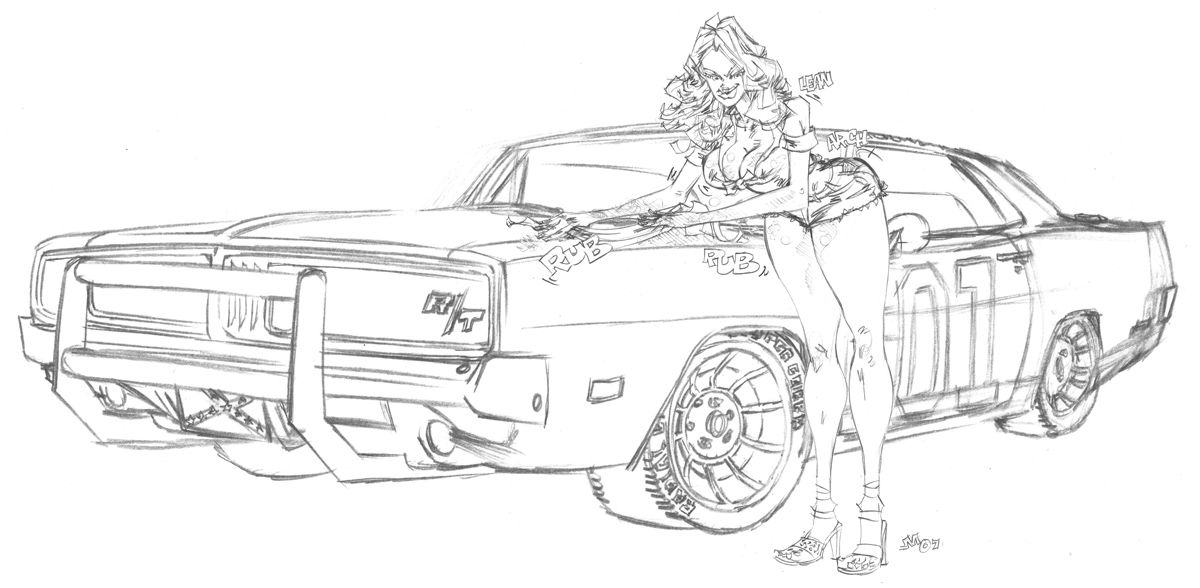 General Lee Car Coloring Pages Concept