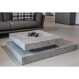 table basse design gris effet beton