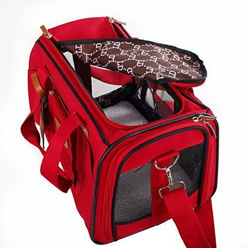 WOpet Soft Sided Pet Carrier Comfortable Carrier Adjustable and Foldable Airline Approved Pet Travel Carrier * Be sure to check out this awesome product.