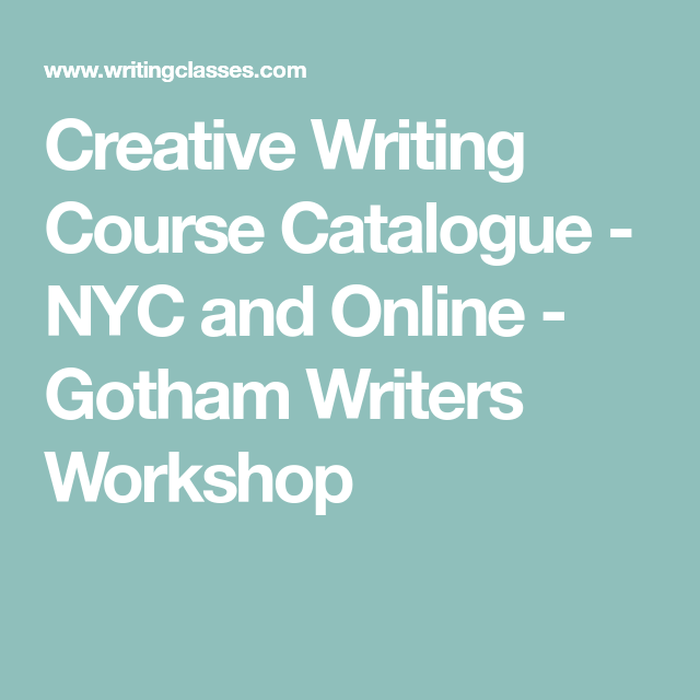 Writers workshop course description
