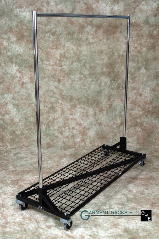 Collapsible Rolling Clothes Racks   Portable Racks Fold Down To 5 Inches    Garment Racks Etc