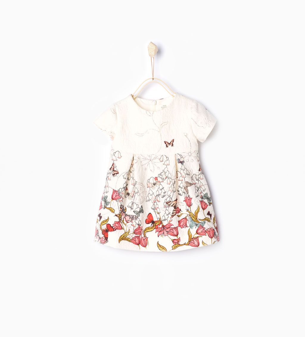 Jacquard kjole med sommerfugle-Kjoler og Jumpsuits-Baby pige (3 mdr. - 3 år)-BØRN | ZARA Danmark