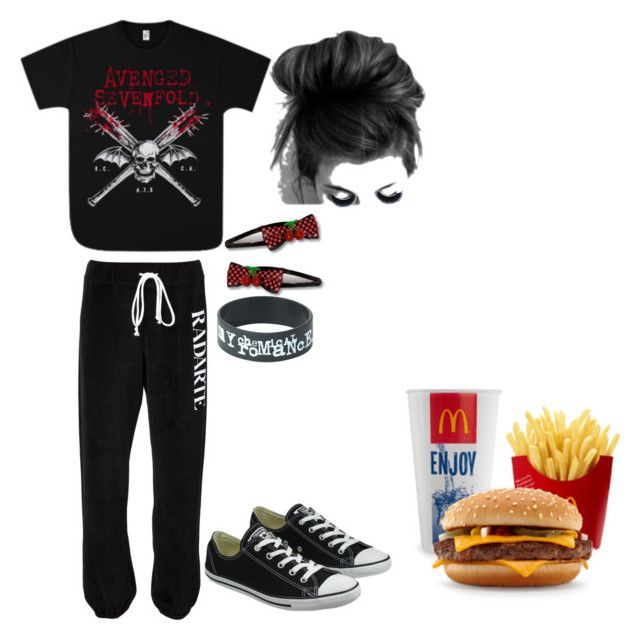 """""""McDonald's"""" by perrylib on Polyvore featuring Rodarte, Converse and Blink"""