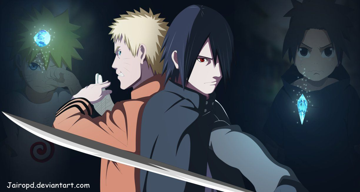Naruto Y Sasuke Friends Forever Naruto And Sasuke Naruto Art Anime
