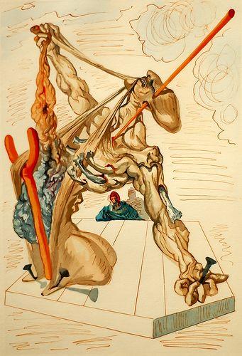 Salvador Dali Drawing 7 - illustration for Dante's Divine Comedy - 1960/1964