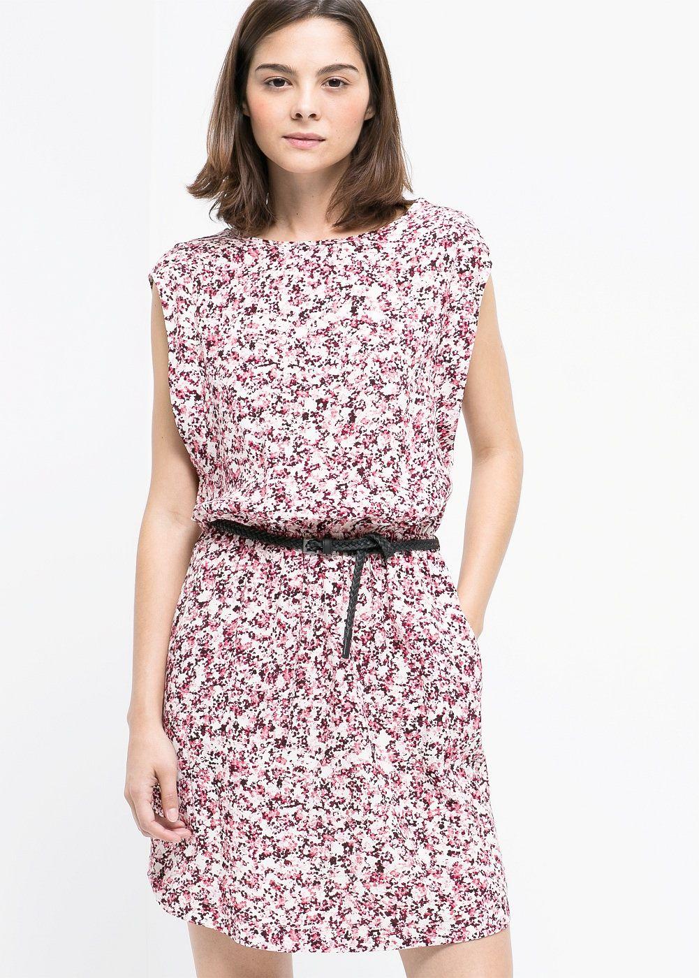 Bedrucktes kleid - Damen | Bedruckte kleider, Kleider und ...