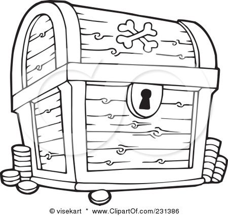 treasure chest clipart illustration by visekart - Open Treasure Chest Coloring Page