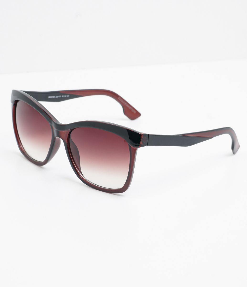 199b09e16bafd Óculos de sol Modelo quadrado Hastes em acetato Lentes em acrílico Proteção  contra raios UVA