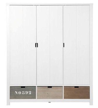 Spiksplinternieuw Kast Basic Wood 3 deurs excl. bakken (With images) | Tall cabinet PY-25