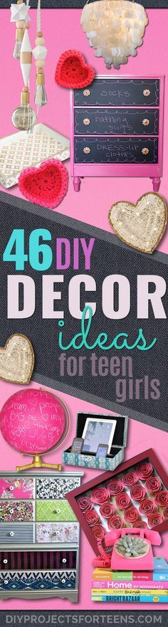 DIY Teen Room Decor Ideas For Girls | Fun Crafts And Decor For Tweens | Cool  Bedroom Decor, Wall Art U0026 Signs, Crafts, Bedding, Fun Do It Yourself  Projects ...