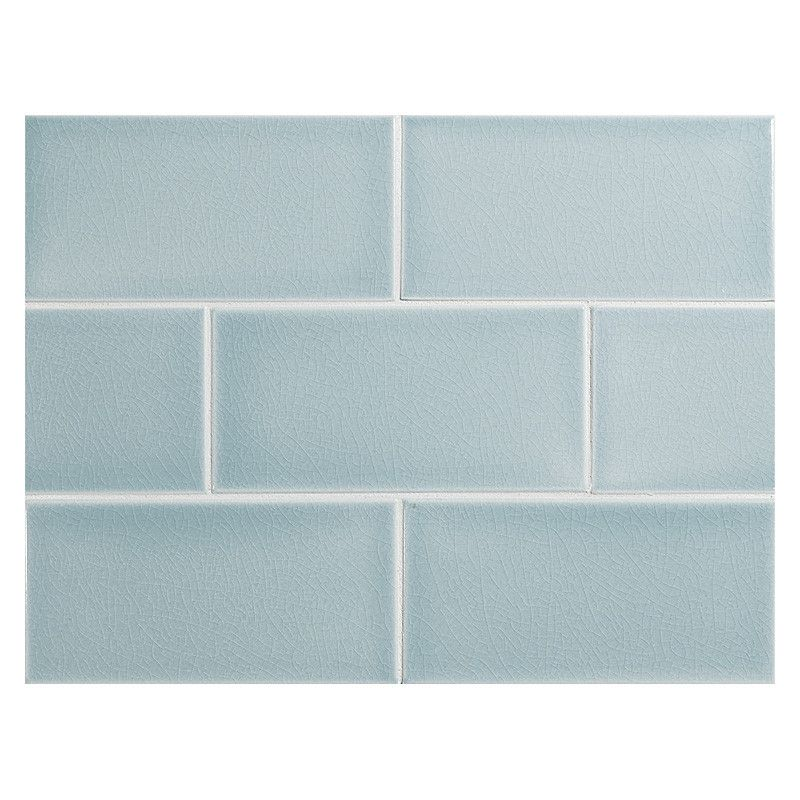 Vermeere Ceramic Tile Ice Blue Crackle 3 X 6 Subway Tile Tiles Ceramic Tiles Tile Bathroom