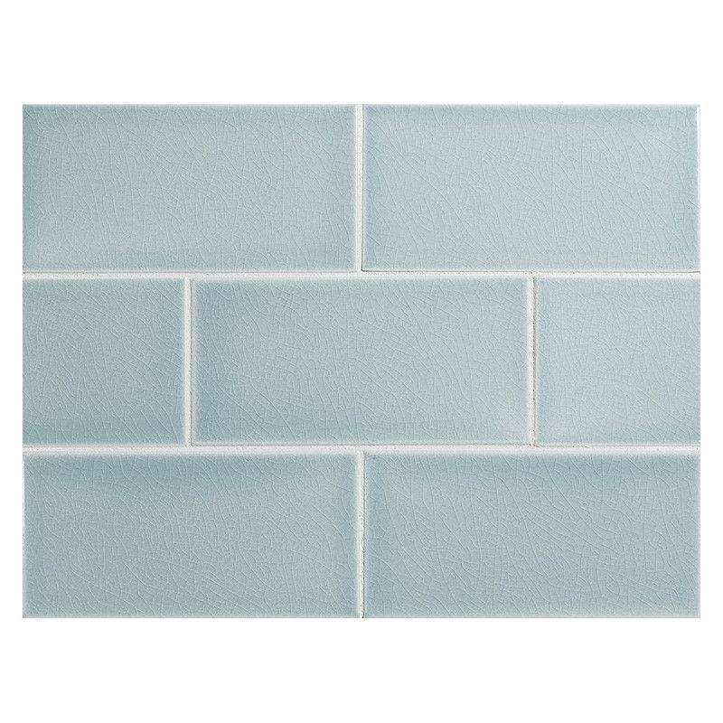 Vermeere Ceramic Tile Ice Blue Crackle 3 X 6 Subway Tile Tiles Ceramic Tiles Tile Bathroom