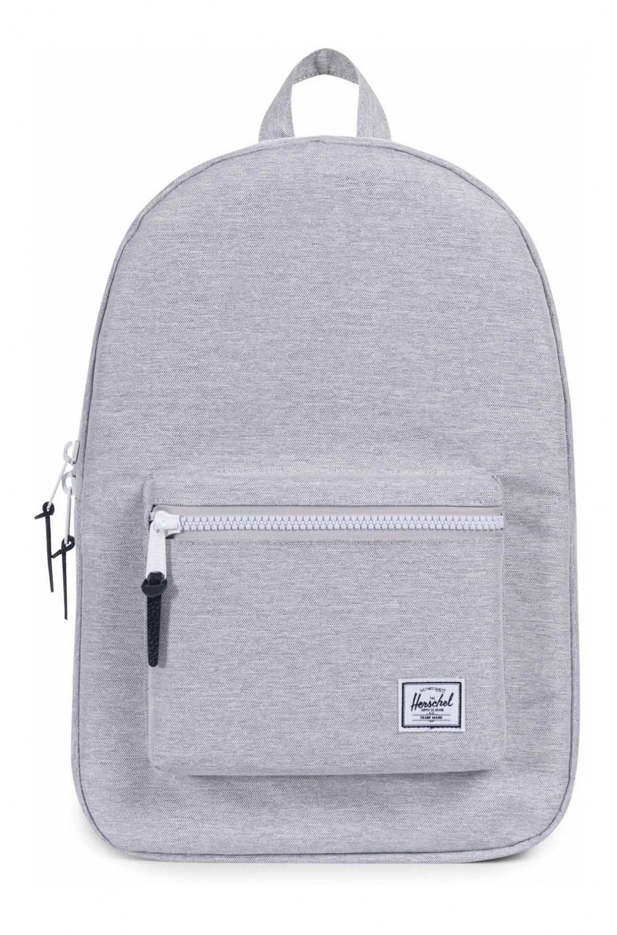 0a0eec9671c Herschel Settlement Backpack 600D Poly Light Grey Crosshatch ...