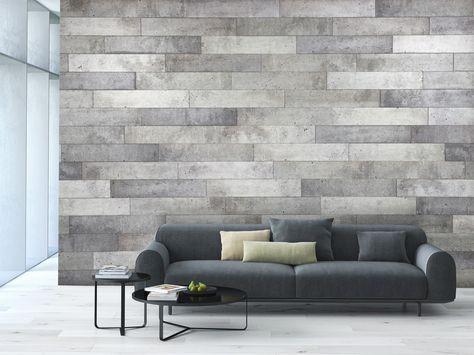 Concrete Duo Siding Paret Foguer Paredes Interiores De Piedra Revestimiento De Paredes Interiores Muebles Minimalistas