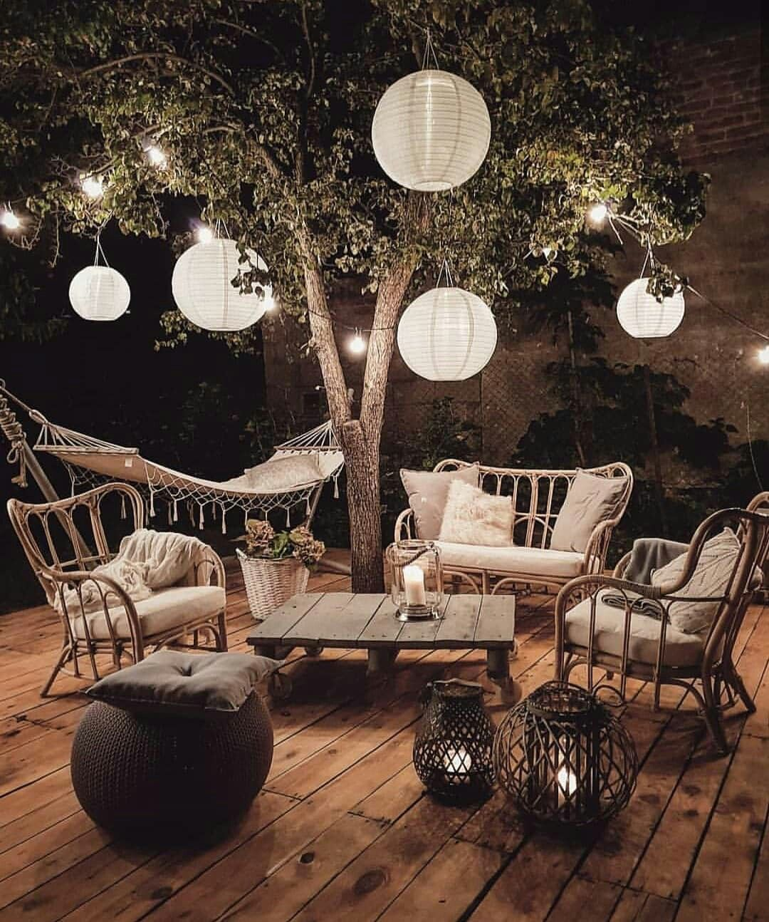 Photo of I can picture so many fun nights with family and friends here #balconylighting I…