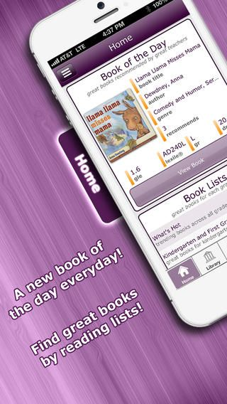 iPhone app Measures ISBNs Lexile levels Elementary