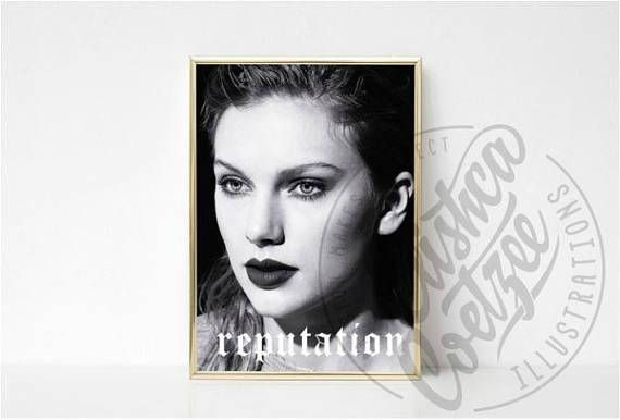 Reputation Taylor Swift Album Music Poster Printable Art Instant