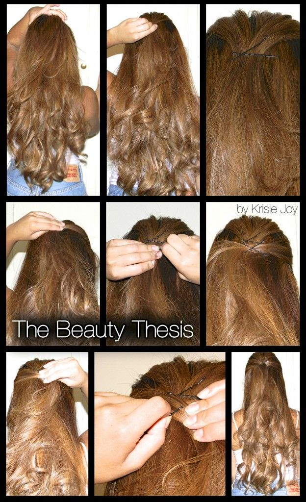 Simple Styles 123youre Done Hair Pinterest Half Updo
