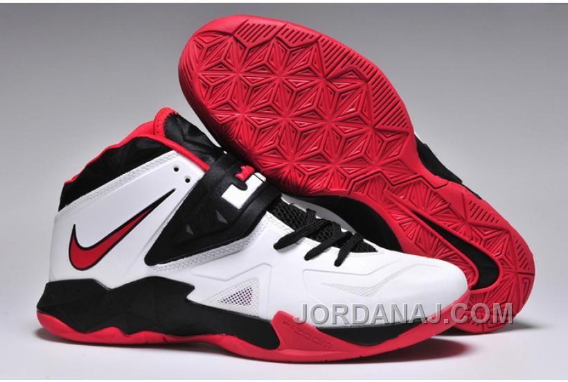 2908d215deb1 Nike LeBron 7 LBJ VII Soldier White Black Red Running Shoes Lebron 7