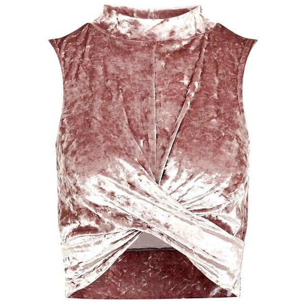 2c81c3ec566be3 Women's Topshop Velvet Crop Top ($35) ❤ liked on Polyvore featuring tops,  shirts, crop top, crop, mock neck crop top, crop shirt, cut-out crop tops  and ...