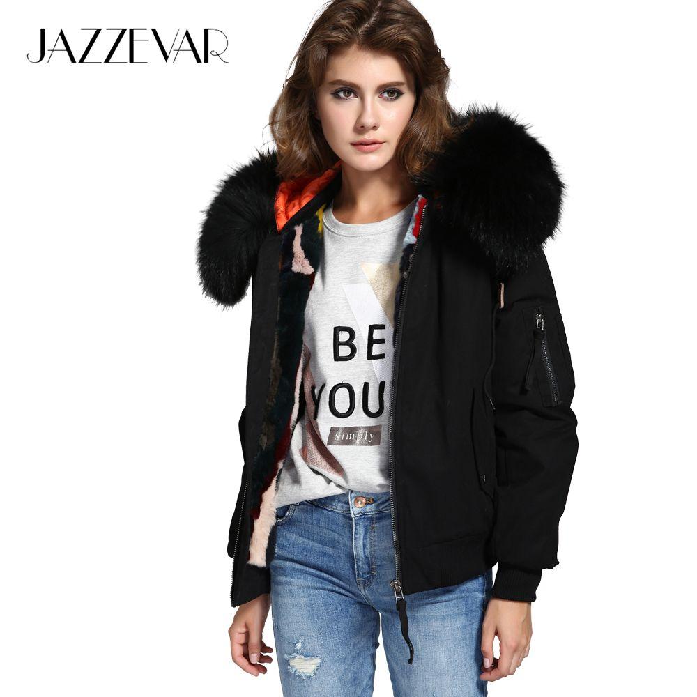 Jazzevar New High Fashion Street Woman Winter Jacket Female Worm Bomber Coat Hooded Large Raccoon Fur Outerwe Winter Jackets Women Fur Outerwear Winter Jackets [ 1000 x 1000 Pixel ]